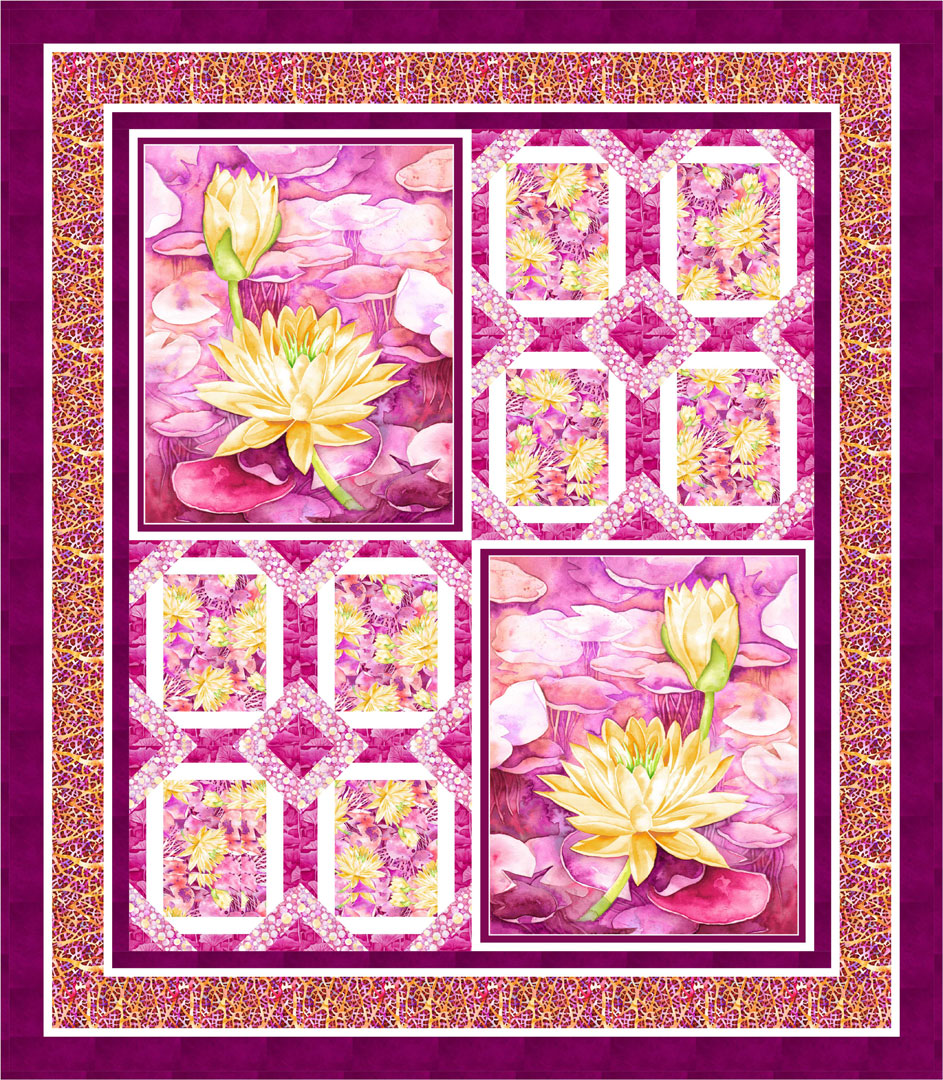 Water Lily Quilt #1<br>by Cyndi Hershey<br>Available Now!