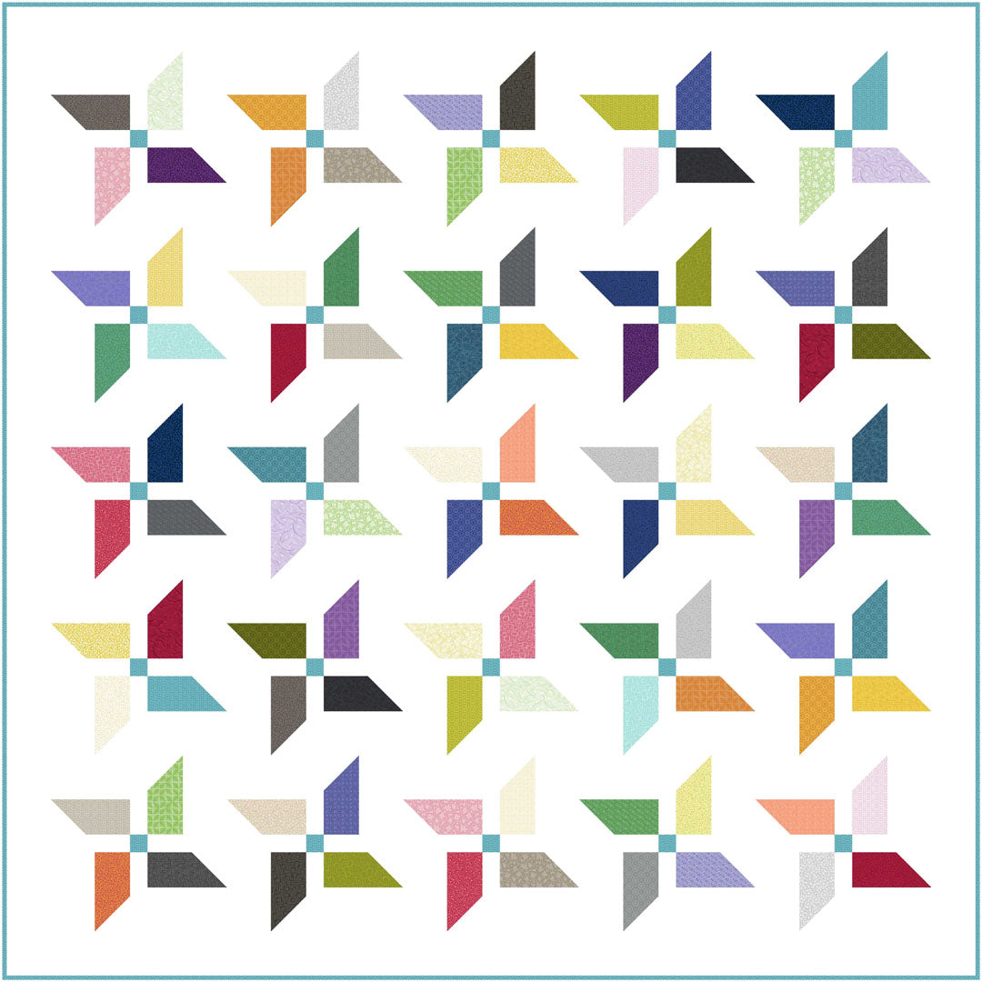 "Whimsy 5"" square Quilt<br>Quilt by Wendy Sheppard<br>Available Now."