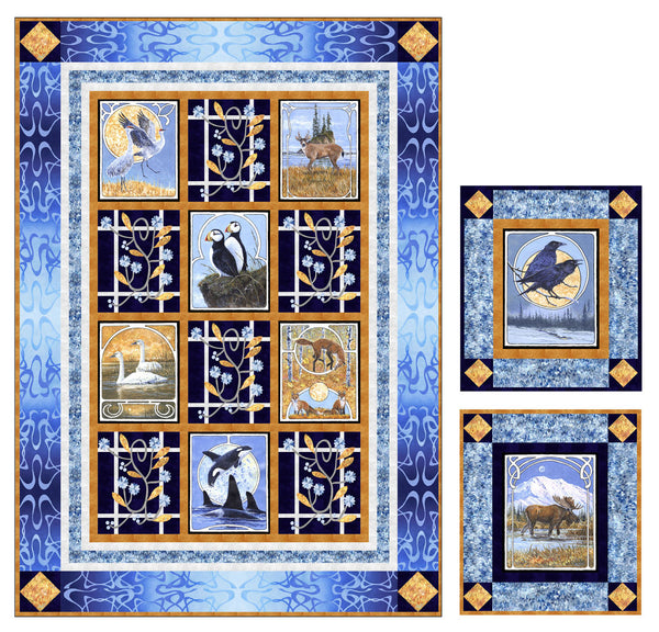 Wildlife Nouveau<br>Quilt by Denise Russell<br>Available Jan. 2021.
