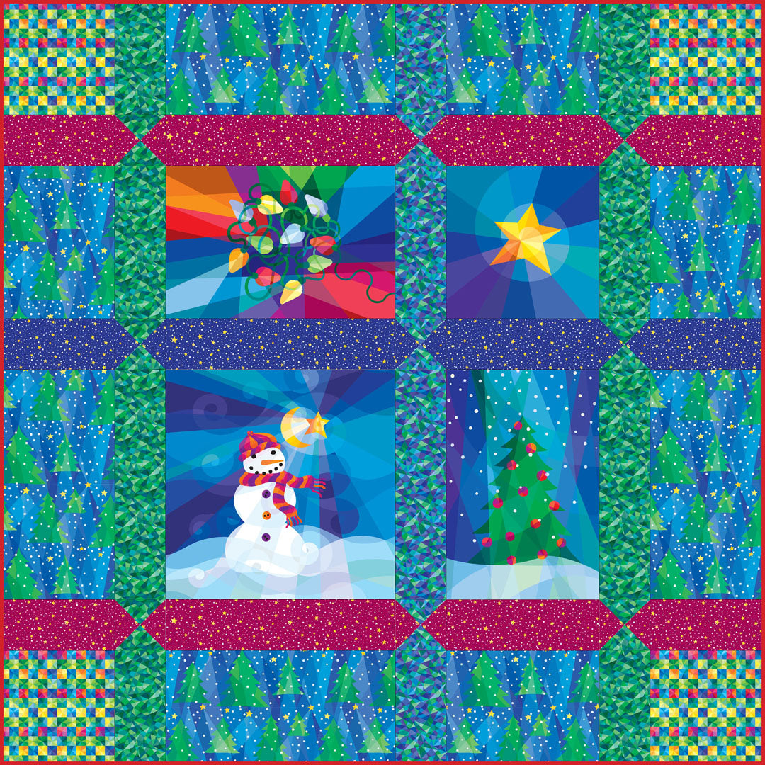 Winter Lights Quilt #1<br>by Susan Rooney<br>Available Now!