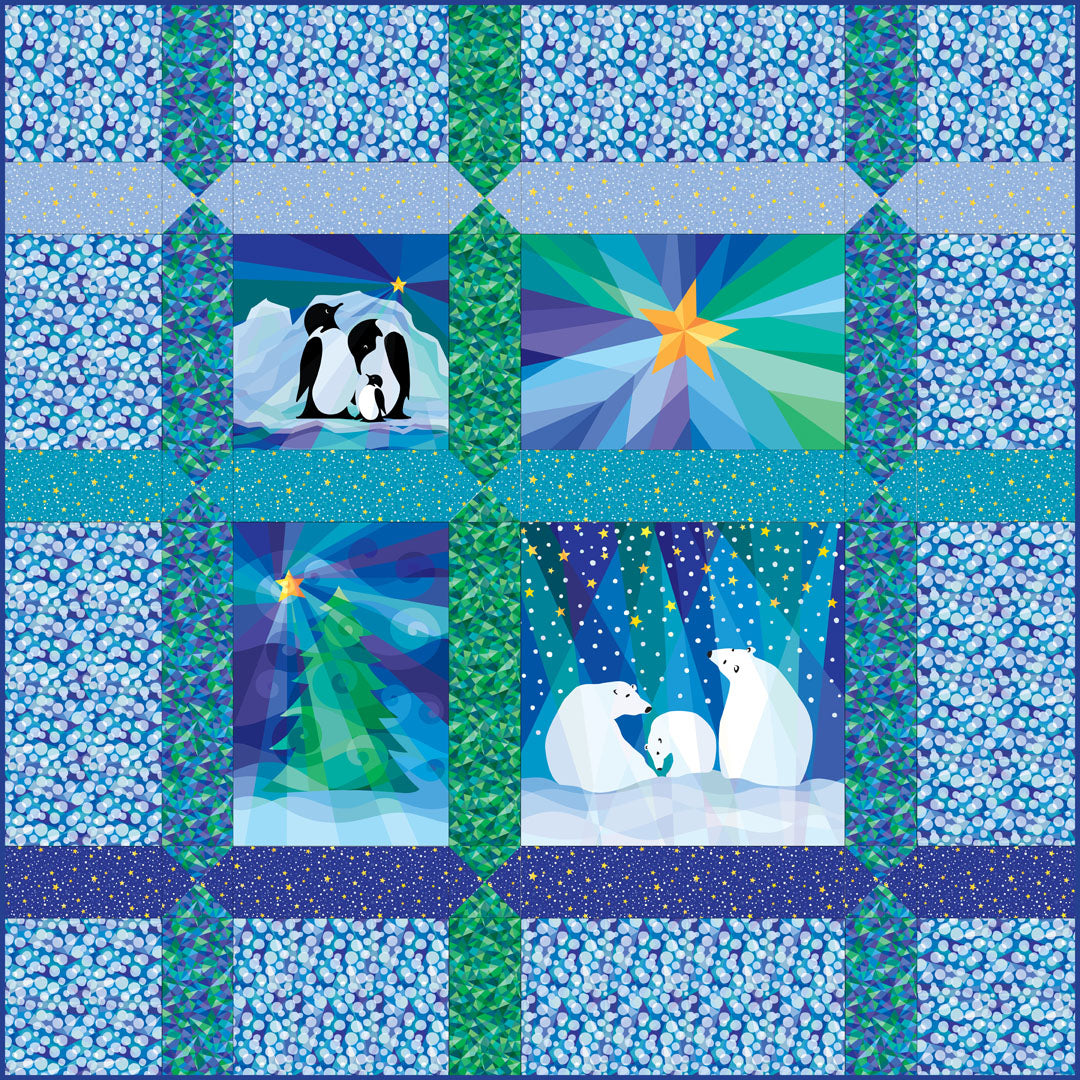 Winter Lights Quilt #2<br>by Susan Rooney<br>Available Now!