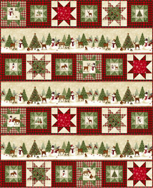 Snow Play Quilt Pattern<br>by Gina Gempesaw<br>WINTER'S FRIENDS