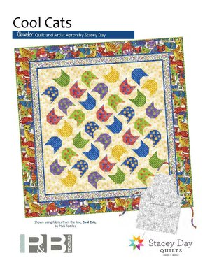 Chowder Quilt and Artist Apron Pattern<br>by Stacey Day<br>Cool Cats