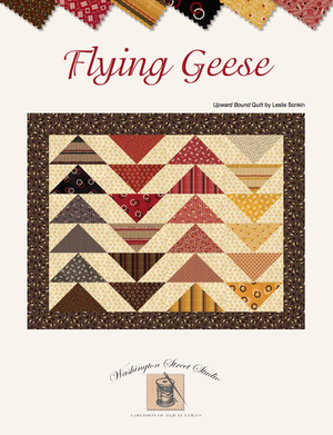Upward Bound Quilt<br>by Leslie Sonkin<br>Flying Geese
