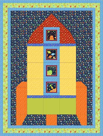 Blast Off<br>by Sandy Whitelaw<br>SUPER SPACEY<br>Pattern for Purchase<br>Available Now