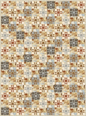 Earth Energy Quilt Pattern<br>by Leslie Sonkin<br>EARTHTONES 2