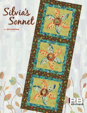 """Three of a Kind"" Free Pattern designed by Sheila Sinclair Snyder of Silvia's Sonnet from P & B Textiles"