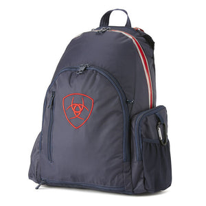 Ariat® Ring Backpack, Navy/Red