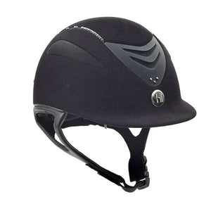 One K™ Defender Suede Helmet with Swarovski Stones, Long Oval