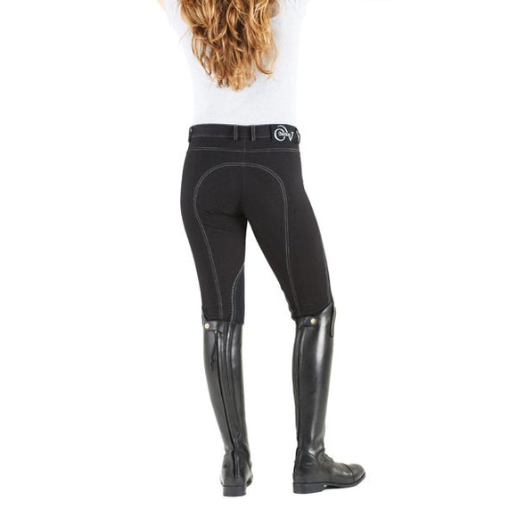 Ovation® Euro Jean Front Zip  Knee Patch Breech