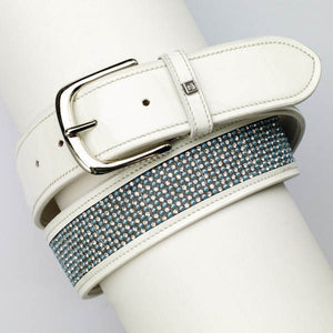 Romfh Belle Wide Belt, White - ER469807