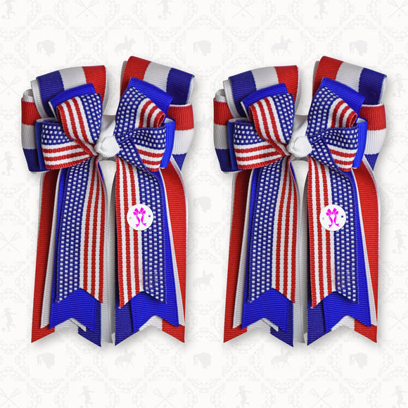 PonyTailBows USA Stripe, 3