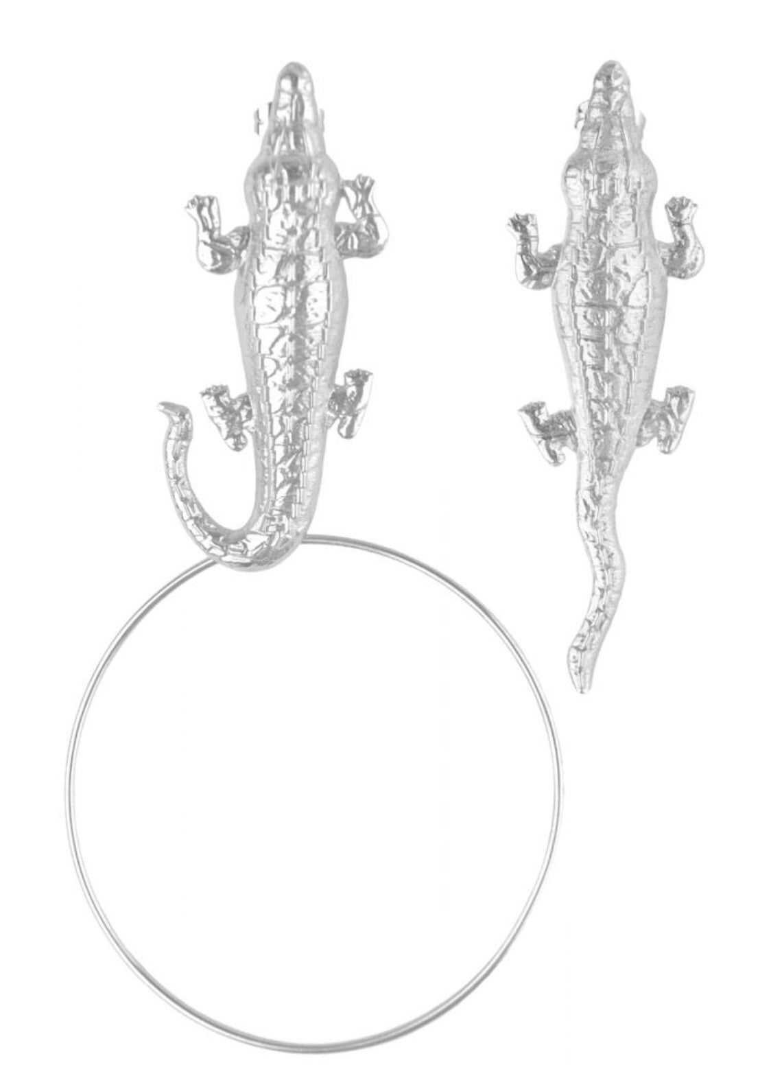 Silver Gators with hoop