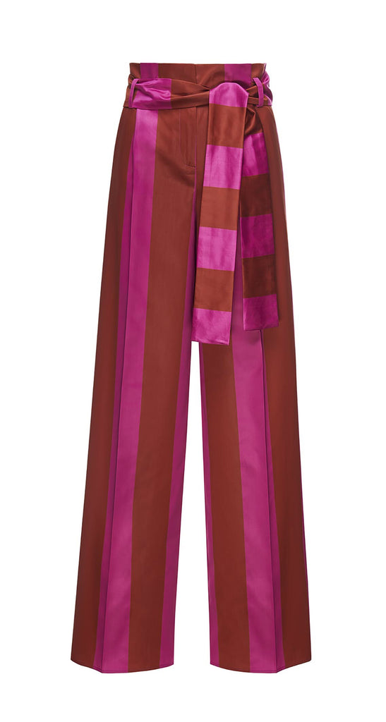 Beatrice B fuchsia stripe pants