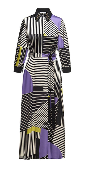 Geometric stripe dress