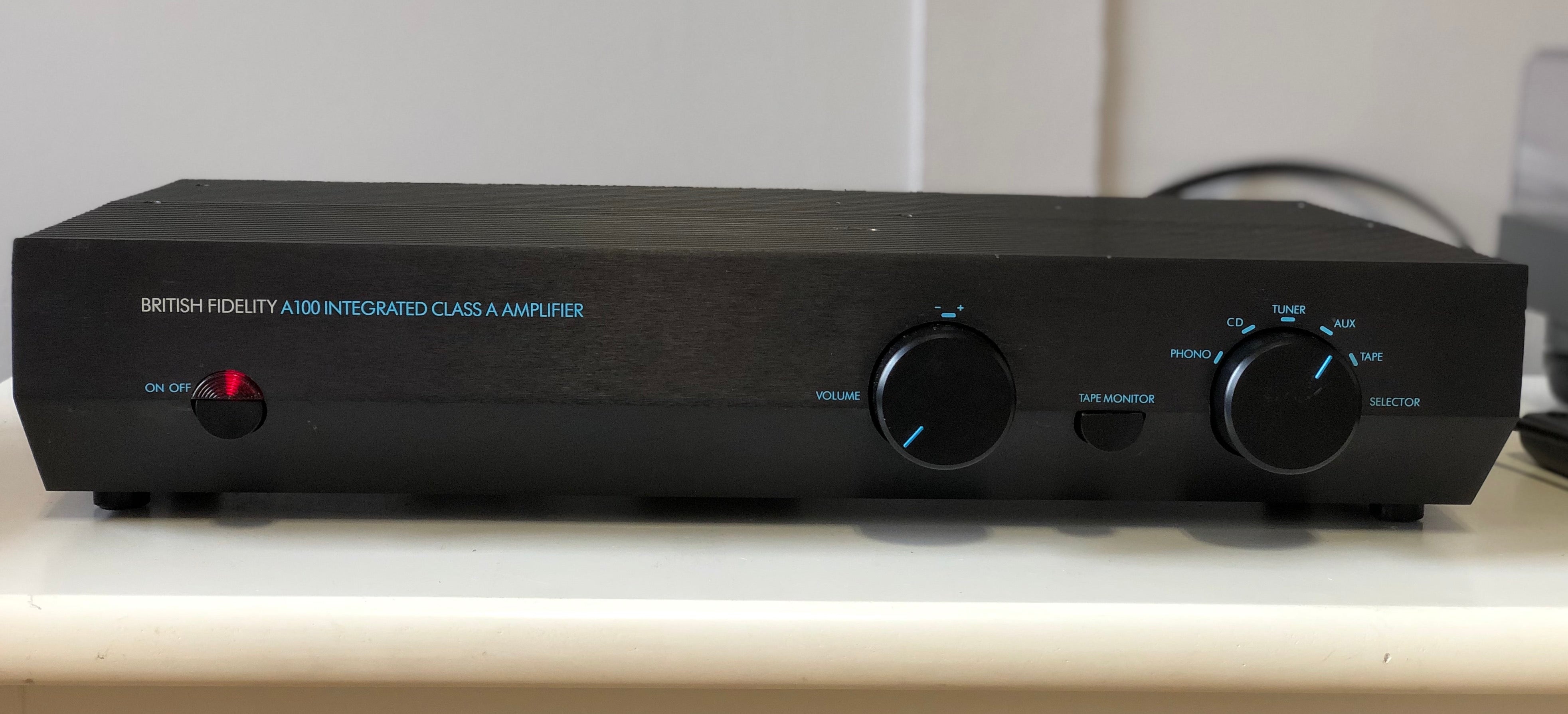 British Fidelity A100 Class-A Integrated Amplifier