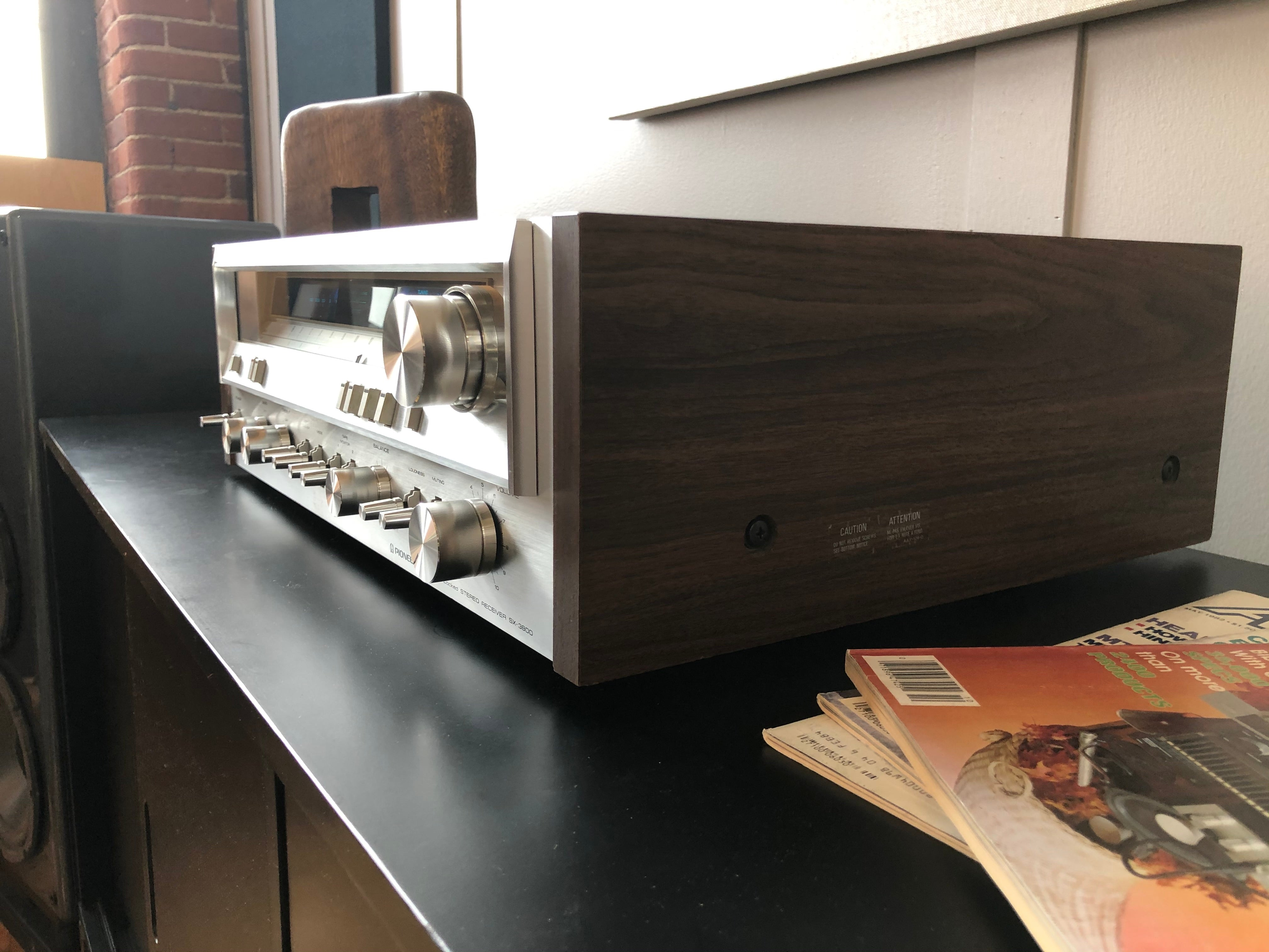 Pioneer SX-3800 Vintage Receiver, Serviced