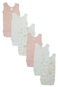 Girls Tank Top Onezies 6 Pack