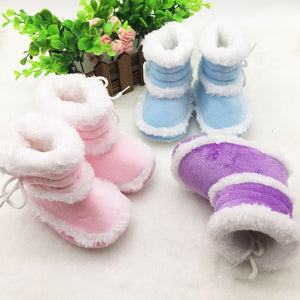 Toddler  Baby Boots Soft Bottom Crib Shoes Infant Winter Warm Booties