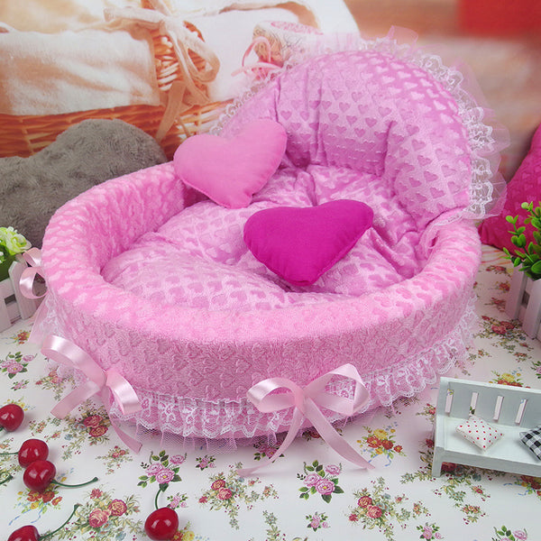 Dog Kennel princess bed dog cat beds Solid Memory Foam