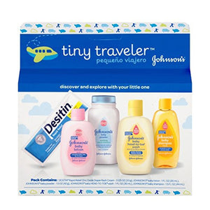 Johnson & Johnson Baby Take Along Travel Pack (Baby powder, Wash, Shampoo, Lotion, Desitin)