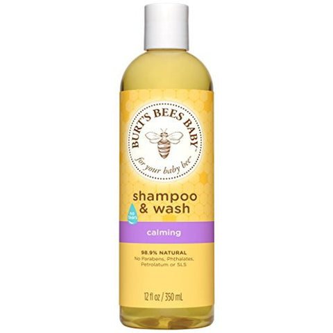 Baby Bee Shampoo and Wash, Calming, 12 Fluid Ounces (Packaging May Vary)