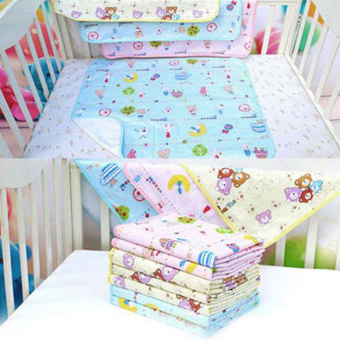 Popular Reusable Infant Waterproof Urine Mat Cover Burp Changing Pad Color Random