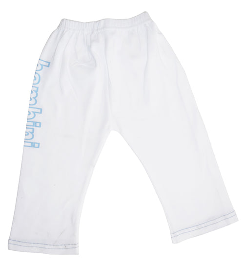 Boys White Pants with Print
