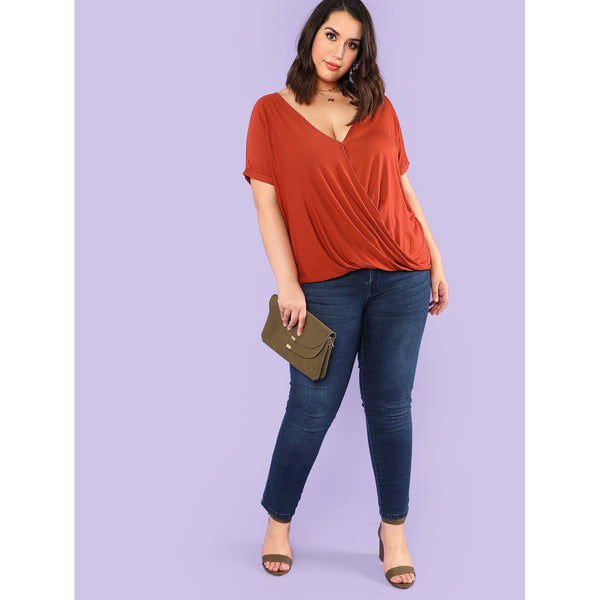 Draped Front Wrap Tee