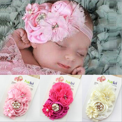 Pearl Flower hair band Baby Girls headband