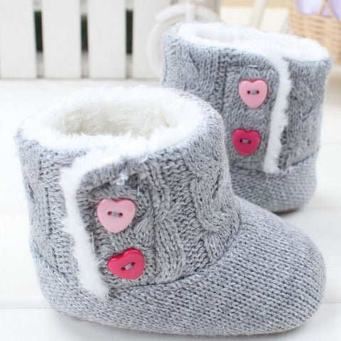 Baby Shoes Cotton Padded Boots  Toddler  First Walkers Shoes