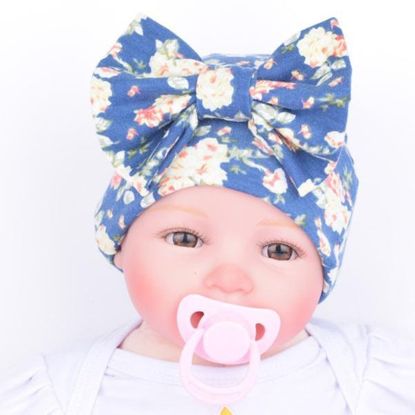 Newborn  Baby Hats With Flower Bowknot