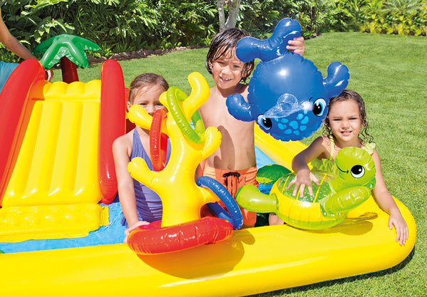 Intex Inflatable Ocean Play Center Kids Backyard Kiddie Pool w/ Games