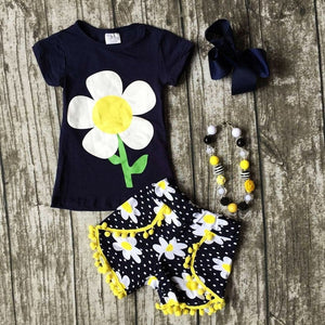 Baby Girls Outfits T-shirt  Shorts Casual Clothes 2Pcs Set 2t to 5t