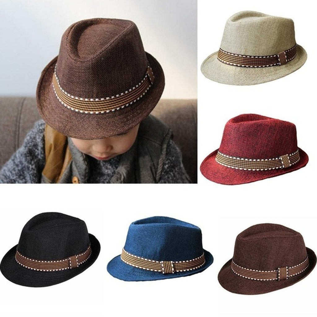 Toddler  Girl Boy Fedora Hat  Cotton Photography Trilby