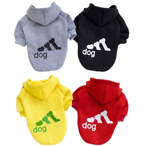 Fashion Dog Clothes For Dogs Hoodie Cotton Puppy Pet Clothes XS-2XL Dog Overalls For Dogs Supplies Ropa Perro French Bulldog Pug