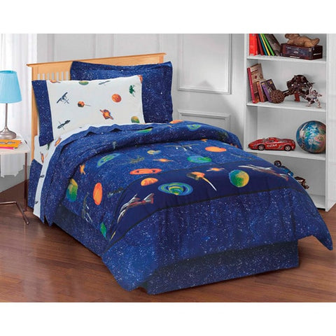 Dream Factory Galaxy Space 6-piece Bed in a Bag with Sheet Set