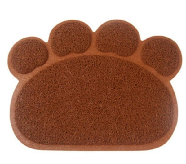 Hot Cute Paw Pet Dog Cat Feeding Mat Pad Pet Dish Bowl Food Water Feed Placemat Puppy Bed Blanket Table Mat Easy Wipe Cleaning
