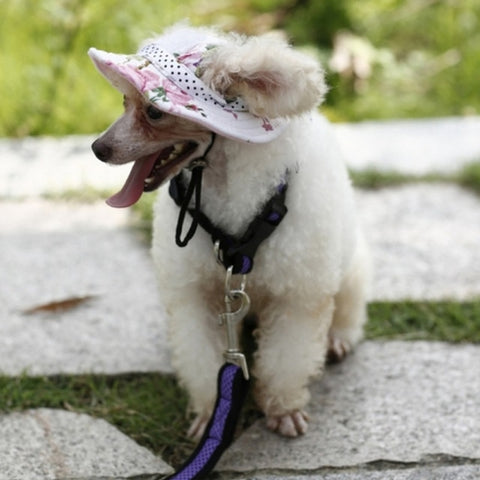 Lovely Cat Dog Sun Hat Cap Pets Outing Travel