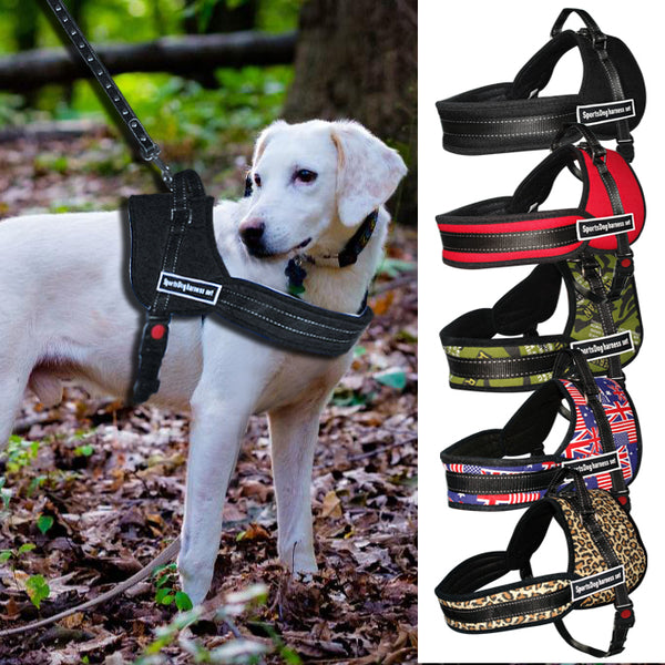 Nylon Work Dogs Harness Multipurpose No Pulling Dog Training Harness Service Pets Vest Heavy Duty