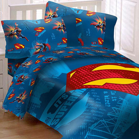 It Is Superman Bedding Set Super Shield Comforter and Sheet Set