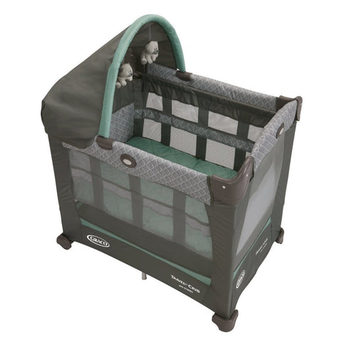 Graco Baby Travel Lite Portable Folding Crib w/ Bassinet - Manor