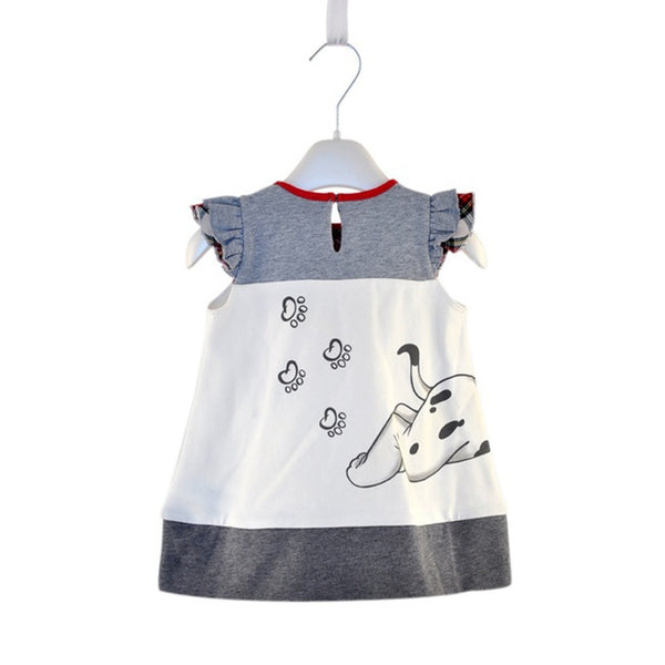 Cute Puppy Printing  Toddler Summer Dresses One-piece 0-5Year