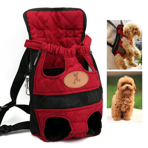 S,M,L Pet Dogs Cats Carrier Backpack Canvas Front Bag Legs Out