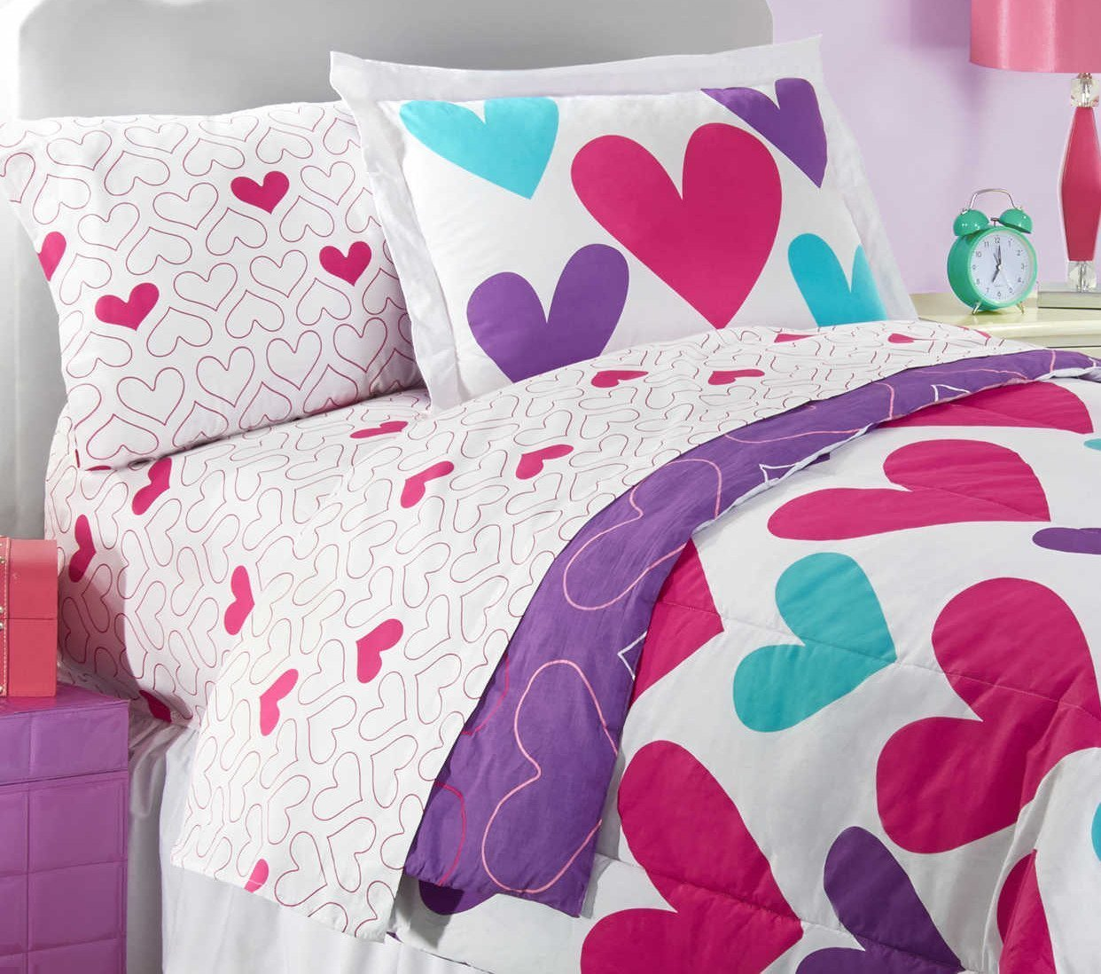 Hearts Full Size Sheet Set