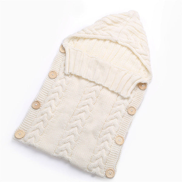Swaddle Wrap Baby Blanket Crochet Cotton Sleeping Bag