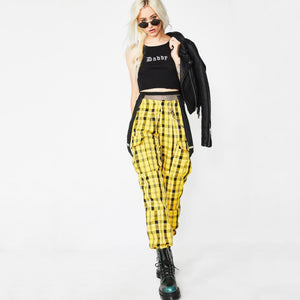 Yellow Plaid Pants