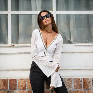Flare Sleeved Bodysuit