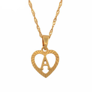 A-Z Heart Letter Necklace