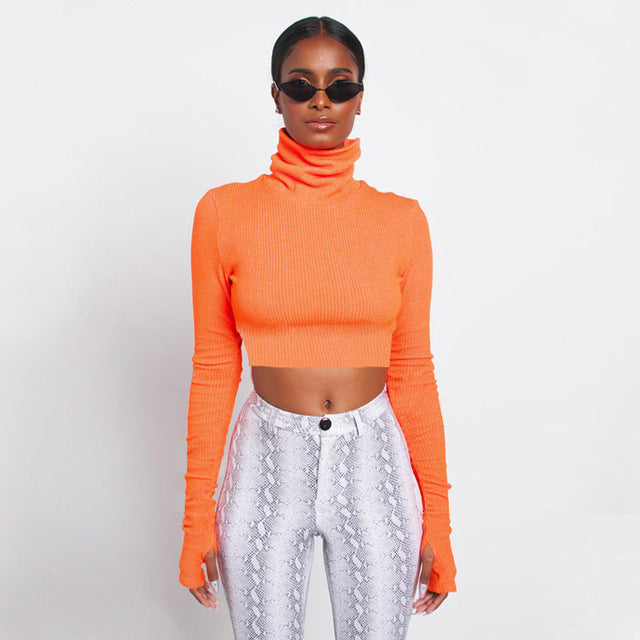 c8925f7755 Neon Cropped Turtleneck – Rosada Couture